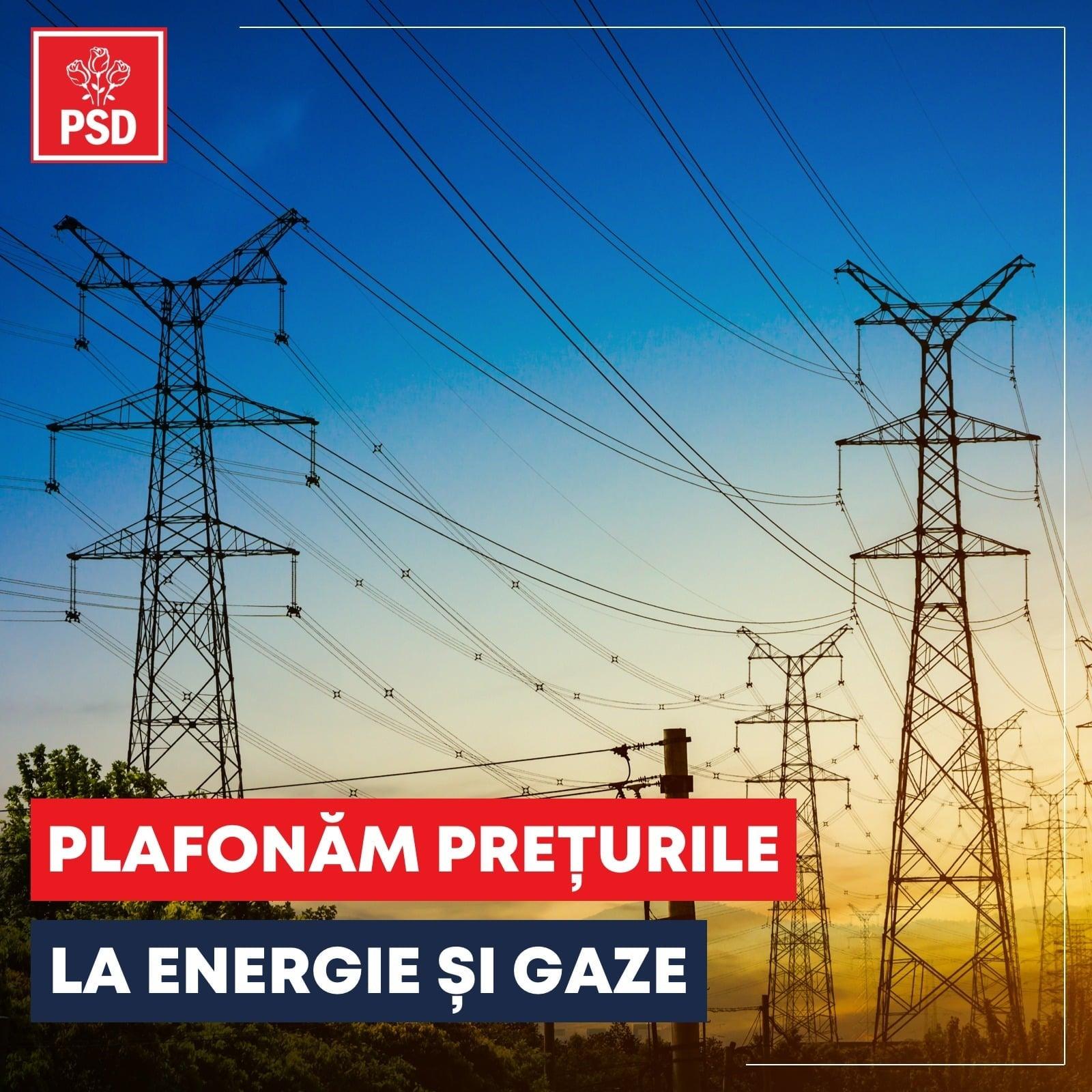 Plafonăm prețurile la energie și gaze!